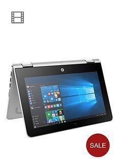 hp-pavilion-x360-11-u003na-intelreg-pentiumreg-processor-4gb-ram-1tb-hard-drive-116-inch-touchscreen-2-in-1-laptop-with-optional-microsoft-office-365-home-silver