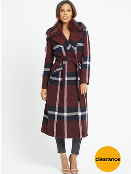 rochelle-humes-fur-collar-check-midi-coat