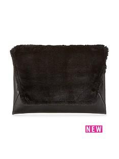 v-by-very-faux-fur-top-envelope-clutch-bagnbsp