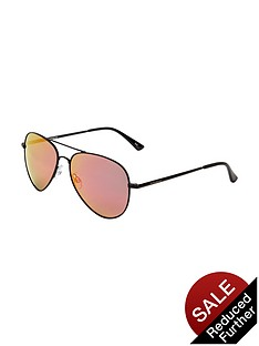 polaroid-mirrored-aviatorsnbspsunglasses-red