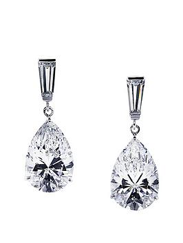 carat-london-9k-white-gold-baguette-amp-pear-shape-drop-earrings