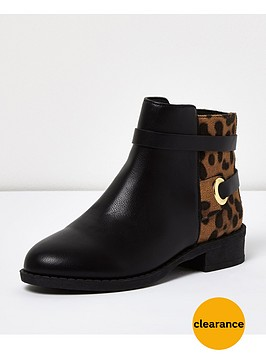 river-island-girlsnbspanimal-print-ankle-boots