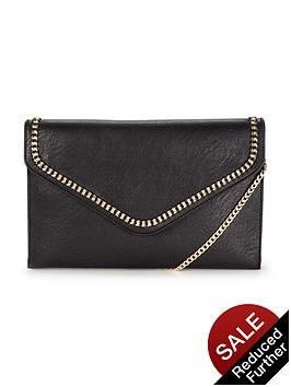 dune-essy-chain-clutch-bag-black
