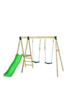 Tp Forest Multiplay Wooden Swing Set & Slide