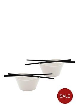 berghoff-eclipse-glazed-porcelain-set-of-2-rice-bowls-with-chopsticks-21cm