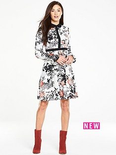 v-by-very-contrast-collar-floral-print-dressnbsp
