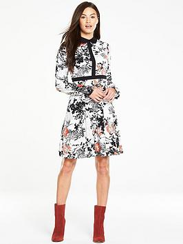 v-by-very-contrast-collar-floral-print-jersey-dress