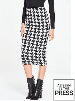 v-by-very-dogtoothnbspjersey-midi-pencil-skirt