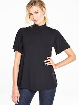 v-by-very-angel-sleeve-high-neck-topnbsp