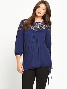 so-fabulous-sequin-lace-elasticated-hem-top