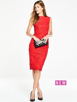 v-by-very-mesh-lace-pencil-midi-dress