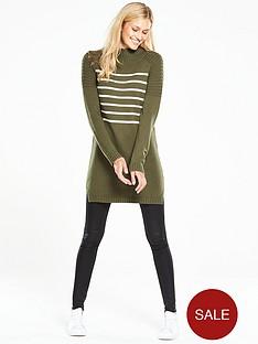 v-by-very-stripe-turtle-neck-tunic