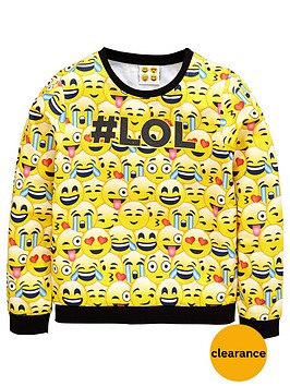 emoji-girls-lol-sweat-top