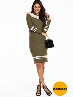 v-by-very-knitted-bodycon-midi-dress-with-sheer-panels