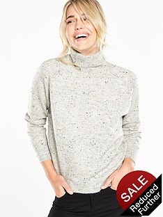 v-by-very-roll-neck-exposed-seam-jumper