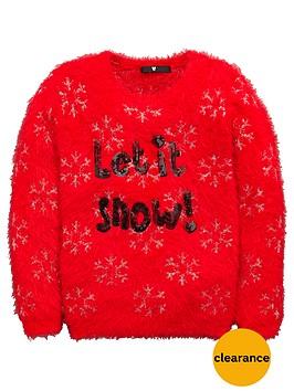 v-by-very-girls-let-it-snow-fluffy-jumper