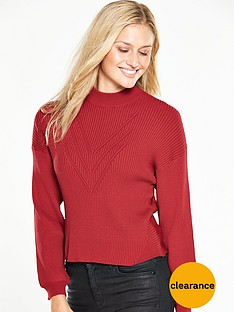 v-by-very-blouson-sleeve-crop-rib-jumper