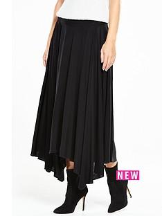 warehouse-crepe-hanky-hem-skirt