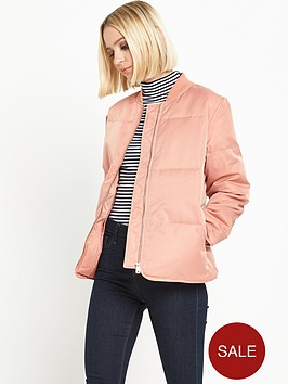 warehouse-padded-jacket-pink