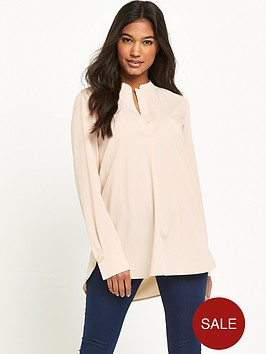 warehouse-half-placket-blouse
