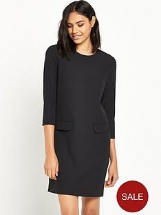 warehouse-pocket-front-crepe-dress