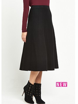 warehouse-fit-and-flare-knitted-skirt