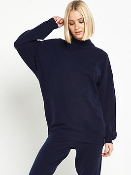 warehouse-cashmere-boxy-jumper-navy