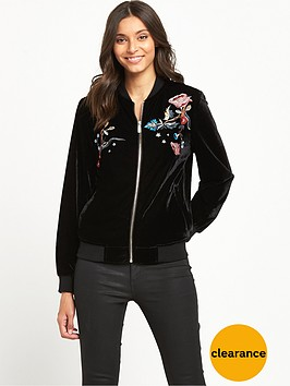 miss-selfridge-embroidered-velvet-bomber-jacket-black