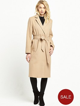 miss-selfridge-midi-belted-coat-camel