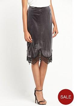 miss-selfridge-velvet-lace-trim-slip-skirt-grey