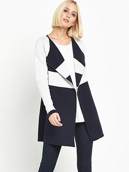 miss-selfridge-stripe-coatigan