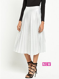 miss-selfridge-petite-metallic-pleated-midi-skirt