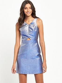 miss-selfridge-blue-glitter-dress-metallic