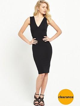 miss-selfridge-lace-up-back-dress-black