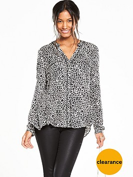 oasis-animal-viscose-wrap-back-shirt