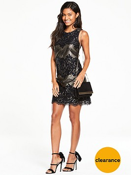 oasis-metalic-lace-dress