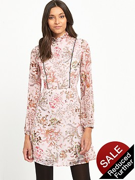 miss-selfridge-floral-long-sleeve-mini-dress-pink