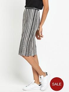 miss-selfridge-stripe-plisse-skirt