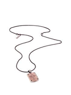 police-stainless-steel-cross-detail-dog-tag-necklace