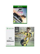 500Gb Console with FIFA 17 and Forza Horizon 3 with Optional Extra Controller and/or 12 Months Live Gold'