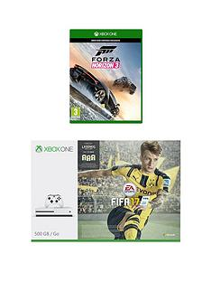 xbox-one-s-500gb-console-with-fifa-17-forza-horizon-3-plus-optional-extra-controller-andor-12-months-xbox-live