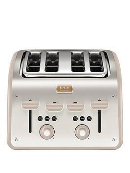 Tefal Maison Tt770Auk Toaster - Metal/Oatmeal Grey