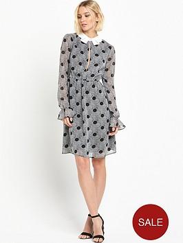 lost-ink-aurelia-spot-print-collar-dress