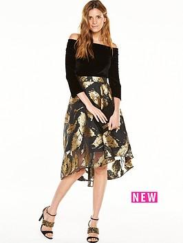 coast-maneela-jacquard-skirt-dress