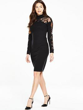 coast-naomi-jane-embellished-knit-shift-dress-black