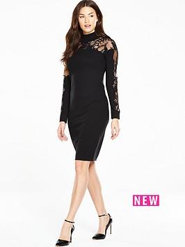 coast-naomi-jane-embellished-knit-shift-dress-black