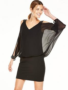 coast-shimmer-cold-shoulder-dress-black