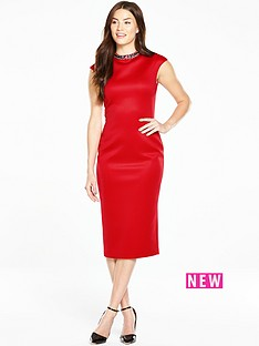 ted-baker-high-neck-embellished-dress