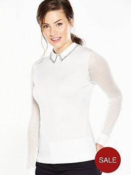 ted-baker-metallic-knit-woven-collar-white