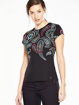ted-baker-treasured-trinkets-fitted-t-shirt-black